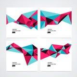 Διανυσματικό αφηρημένο σύνολο υποβάθρου τριγώνων Στοκ Εικόνες