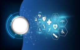 Διανυσματικό αφηρημένο υγειονομικής περίθαλψης backgro έννοιας εικονιδίων επιστήμης ιατρικό απεικόνιση αποθεμάτων