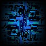 Διανυσματικό αφηρημένο υπόβαθρο κυκλωμάτων ψηφιακών υπολογιστών, έννοια αλγορίθμου μητρών Στοκ Εικόνες