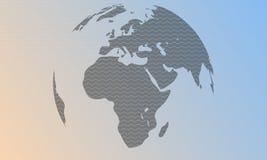 Διανυσματικό αφηρημένο υπόβαθρο κυμάτων με τη σφαίρα Ελεύθερη απεικόνιση δικαιώματος