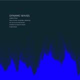 Διανυσματικό αφηρημένο υπόβαθρο με χρωματισμένα δυναμικά κύματα Στοκ Εικόνες
