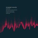 Διανυσματικό αφηρημένο υπόβαθρο με χρωματισμένα δυναμικά κύματα Στοκ φωτογραφία με δικαίωμα ελεύθερης χρήσης