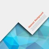 Διανυσματικό αφηρημένο υπόβαθρο. Μπλε και κάρτα πολυγώνων Στοκ Εικόνες