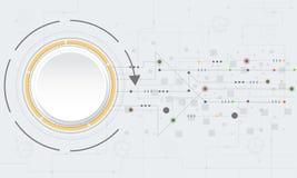Διανυσματικό αφηρημένο υπόβαθρο τεχνολογίας με τα διάφορα τεχνολογικά στοιχεία Στοκ εικόνες με δικαίωμα ελεύθερης χρήσης