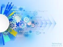Διανυσματικό αφηρημένο υπόβαθρο της τεχνολογικής καινοτομίας Στοκ εικόνες με δικαίωμα ελεύθερης χρήσης