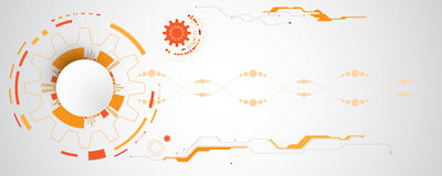 Διανυσματικό αφηρημένο υπόβαθρο της τεχνολογικής καινοτομίας Στοκ εικόνα με δικαίωμα ελεύθερης χρήσης