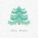 Διανυσματικό αφηρημένο χριστουγεννιάτικο δέντρο Στοκ Εικόνες