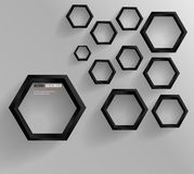 Διανυσματικό αφηρημένο Hexagon υποβάθρου. Ιστός και σχέδιο Στοκ Εικόνες