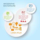 Διανυσματικό αφηρημένο infographic υπόβαθρο εγγράφου Στοκ Εικόνες