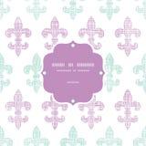 Διανυσματικό αφηρημένο textile fleur de lis πλαίσιο λωρίδων ελεύθερη απεικόνιση δικαιώματος