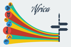 Διανυσματικό αφρικανικό σαφάρι Στοκ Εικόνες