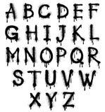 Διανυσματικό αλφάβητο παφλασμών γκράφιτι, πηγή, grunge κείμενο απεικόνιση αποθεμάτων