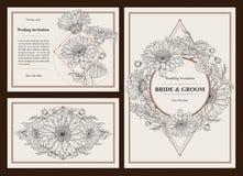 διανυσματικό γαμήλιο λευκό πρόσκλησης σχεδίων καρτών ανασκόπησης Στοκ Φωτογραφίες