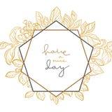Διανυσματικό γαμήλιο floral πρότυπο με την εγγραφή απεικόνιση αποθεμάτων