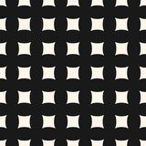 Διανυσματικό γεωμετρικό άνευ ραφής σχέδιο με τις κυρτές τετραγωνικές μορφές, πλέγμα Στοκ Εικόνες