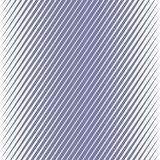Διανυσματικό γεωμετρικό ημίτονο διαγώνιο άνευ ραφής σχέδιο γραμμών Μπλε κλιμένες γραμμές απεικόνιση αποθεμάτων