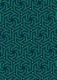 Διανυσματικό γεωμετρικό σχέδιο, που στηρίζεται σε ένα εξαγωνικό πλέγμα Στοκ Εικόνα