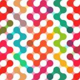Διανυσματικό γεωμετρικό σχέδιο των κύκλων Χρωματισμένο άνευ ραφής σκηνικό ελεύθερη απεικόνιση δικαιώματος