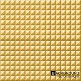 Διανυσματικό γεωμετρικό υπόβαθρο Χρυσοί άνευ ραφής κύβοι Στοκ Εικόνες