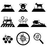 Διανυσματικό γεωργικό σύνολο ελεύθερη απεικόνιση δικαιώματος