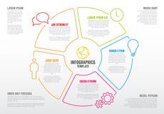 Διανυσματικό για πολλές χρήσεις πρότυπο Infographic Στοκ Φωτογραφίες