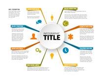 Διανυσματικό για πολλές χρήσεις πρότυπο Infographic Ελεύθερη απεικόνιση δικαιώματος