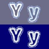Διανυσματικό γράμμα Υ στο γκρίζο και μπλε υπόβαθρο στοκ εικόνα