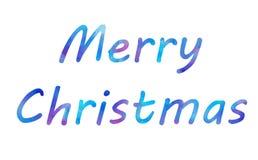 Διανυσματικό γράφοντας κείμενο βουρτσών Χαρούμενα Χριστούγεννας watercolor φωτεινό στο άσπρο υπόβαθρο διανυσματική απεικόνιση