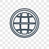 Διανυσματικό γραμμικό εικονίδιο έννοιας γήινου πλέγματος που απομονώνεται στο διαφανές BA ελεύθερη απεικόνιση δικαιώματος