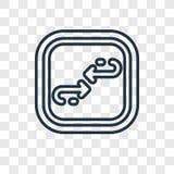 Διανυσματικό γραμμικό εικονίδιο έννοιας κύκλων που απομονώνεται στο διαφανές backgro ελεύθερη απεικόνιση δικαιώματος