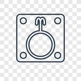 Διανυσματικό γραμμικό εικονίδιο έννοιας λήθαργου που απομονώνεται στη διαφανή πλάτη ελεύθερη απεικόνιση δικαιώματος
