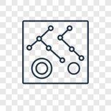 Διανυσματικό γραμμικό εικονίδιο έννοιας σύνδεσης που απομονώνεται στο διαφανές BA ελεύθερη απεικόνιση δικαιώματος