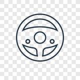 Διανυσματικό γραμμικό εικονίδιο έννοιας Chauffer που απομονώνεται στη διαφανή πλάτη ελεύθερη απεικόνιση δικαιώματος