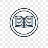 Διανυσματικό γραμμικό εικονίδιο ανάγνωσης που απομονώνεται στο διαφανές υπόβαθρο, Ρ ελεύθερη απεικόνιση δικαιώματος