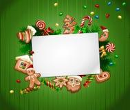 Διανυσματικό γλυκό υπόβαθρο Χριστουγέννων απεικόνισης Στοκ φωτογραφία με δικαίωμα ελεύθερης χρήσης