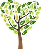 Διανυσματικό διαμορφωμένο καρδιά δέντρο απεικόνισης ελεύθερη απεικόνιση δικαιώματος