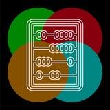 Διανυσματικό εικονίδιο αβάκων διανυσματική απεικόνιση