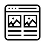 Διανυσματικό εικονίδιο γραμμών εικόνων Ιστού Στοκ εικόνες με δικαίωμα ελεύθερης χρήσης