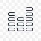Διανυσματικό εικονίδιο επιπέδων που απομονώνεται στο διαφανές υπόβαθρο, γραμμικό LE απεικόνιση αποθεμάτων