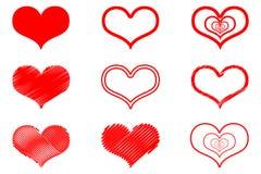 Διανυσματικό εικονίδιο καρδιών Στοκ φωτογραφία με δικαίωμα ελεύθερης χρήσης