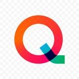 Διανυσματικό εικονίδιο κλίσης γραμμάτων Q διανυσματική απεικόνιση