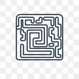 Διανυσματικό εικονίδιο λαβύρινθων που απομονώνεται στο διαφανές υπόβαθρο, γραμμικό διανυσματική απεικόνιση