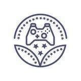 Διανυσματικό εικονίδιο παιχνιδιών σημαδιών εικόνων βραβείων παιχνιδιών για την επιχείρηση ή τον ιστοχώρο σας απεικόνιση αποθεμάτων
