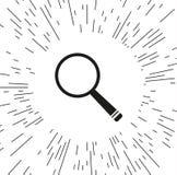 Διανυσματικό εικονίδιο πιό magnifier απεικόνιση αποθεμάτων