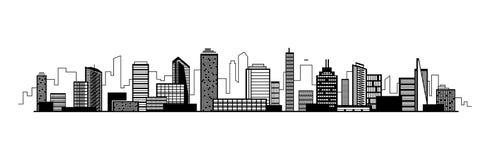 Διανυσματικό εικονίδιο σκιαγραφιών πόλεων με τα παράθυρα επίσης corel σύρετε το διάνυσμα απεικόνισης Στοκ εικόνα με δικαίωμα ελεύθερης χρήσης