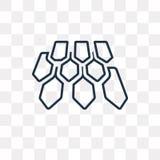Διανυσματικό εικονίδιο στεγών που απομονώνεται στο διαφανές υπόβαθρο, γραμμική στέγη απεικόνιση αποθεμάτων