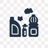 Διανυσματικό εικονίδιο χλωρίνης που απομονώνεται στο διαφανές υπόβαθρο, χλωρίνη τ απεικόνιση αποθεμάτων