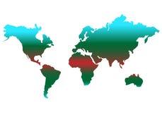 διανυσματικό εικονίδιο χρώματος παγκόσμιων χαρτών απλό επίπεδο σχέδιο στοκ εικόνες