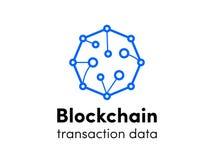 Διανυσματικό εικονίδιο cryptocurrency σύννεφων λογότυπων Blockchain ελεύθερη απεικόνιση δικαιώματος