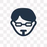 Διανυσματικό εικονίδιο Hipster που απομονώνεται στο διαφανές υπόβαθρο, Hipster διανυσματική απεικόνιση